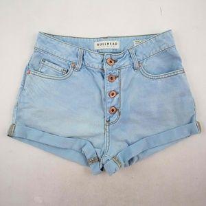 Bullhead Women's Mini Shorts Size 3 Blue High Rise